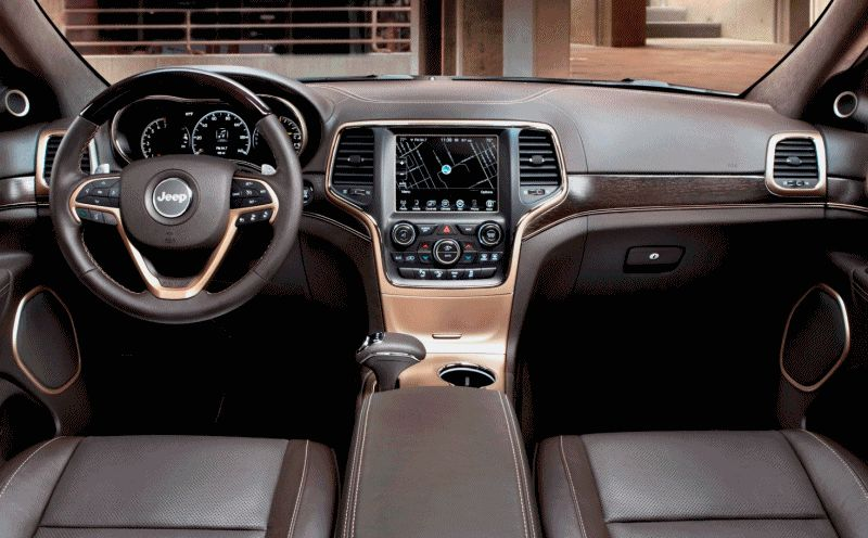 2014 Jeep Grand Cherokee Summit INTERIORS GIF