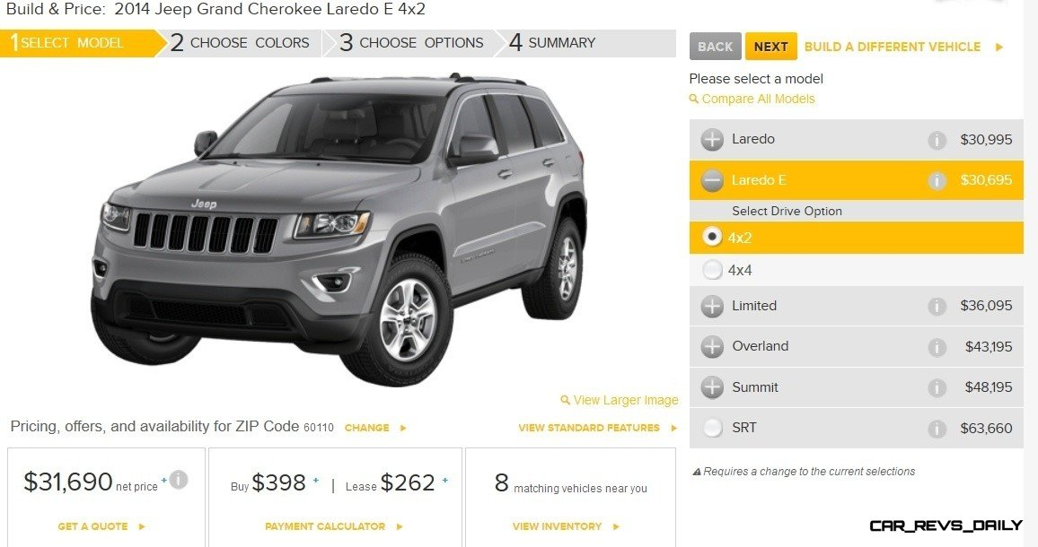 2014 Jeep Grand Cherokee Summit, Overland and Ltd 4