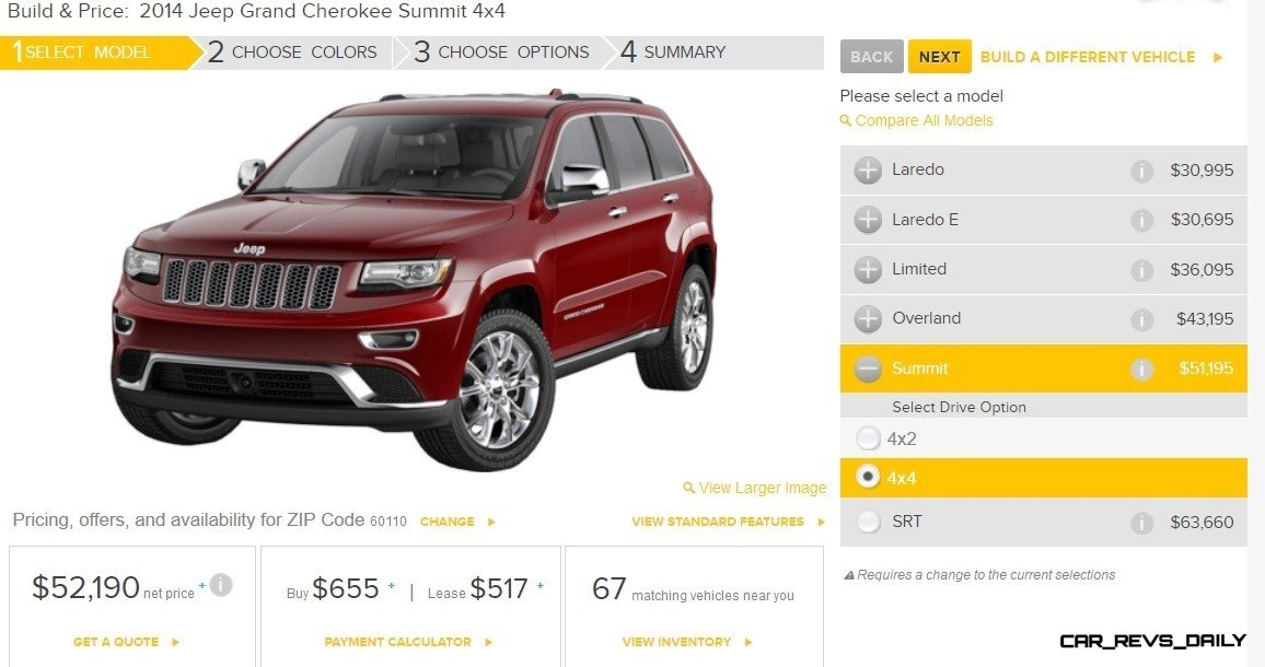 2014 Jeep Grand Cherokee Summit, Overland and Ltd 5