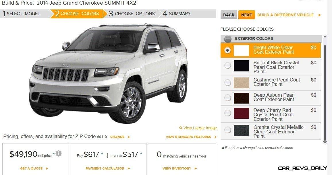 2014 Jeep Grand Cherokee Summit, Overland and Ltd 8