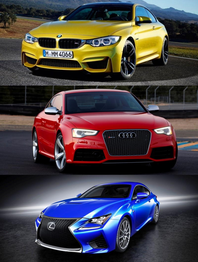 2015 Supercoupe Design Shootout - Lexus RC F vs. BMW M4 vs. Audi RS5 2
