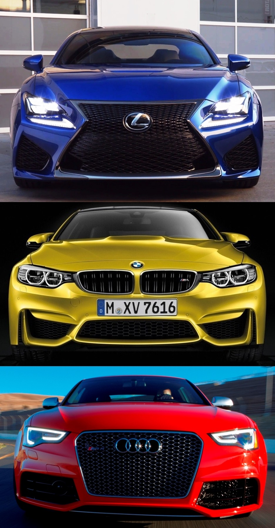 2015 Supercoupe Design Shootout Lexus Rc F Vs Bmw M4 Vs Audi Rs5