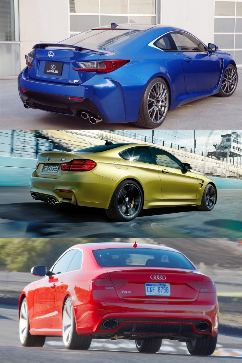 2015 Supercoupe Design Shootout - Lexus RC F vs. BMW M4 vs. Audi RS5 6