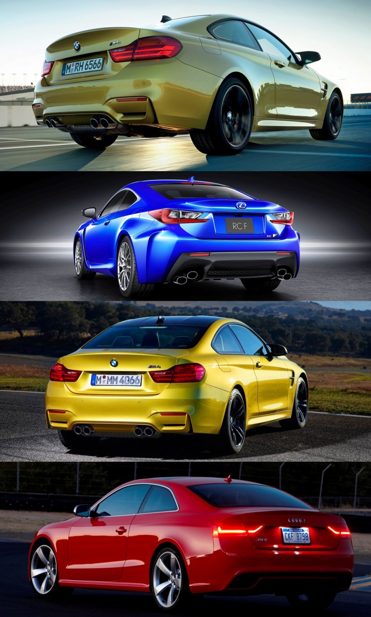 2015 Supercoupe Design Shootout - Lexus RC F vs. BMW M4 vs. Audi RS5 7