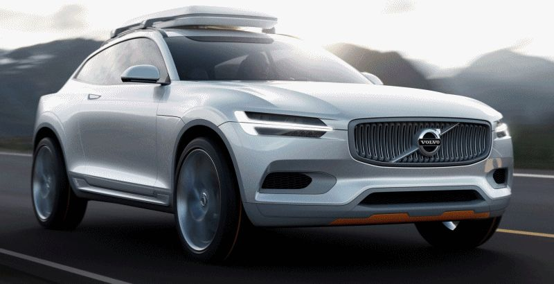 2015 Volvo XC90 Closely Previewed by New XC Coupe Concept GIF