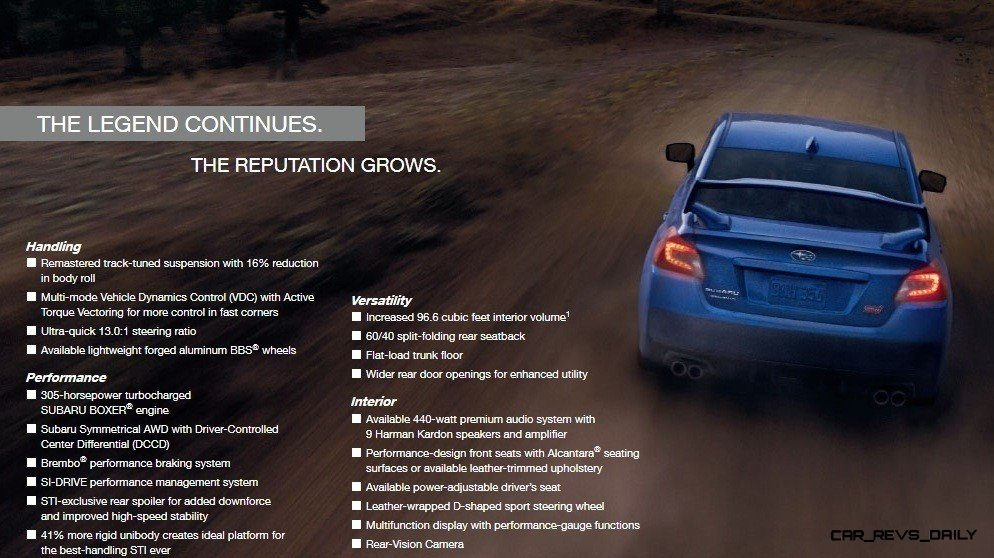 2015 WRX STI Even Quicker and More Playful - Buyers Guide