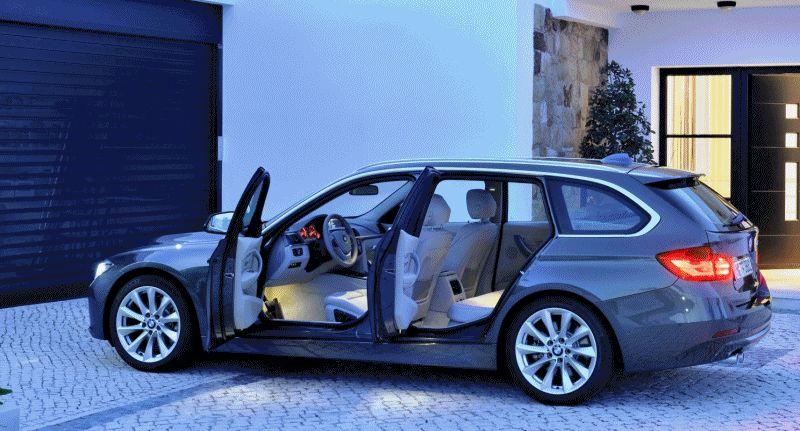 BMW 328d Wagon Interior GIF