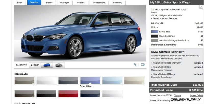BMW 328d and 328i Sport Wagons BuildYourOwn 8