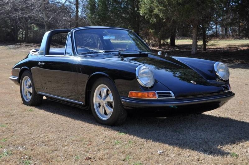 Black 1967 Porsche 911S Soft Window TARGA for sale in Raleigh NC 14