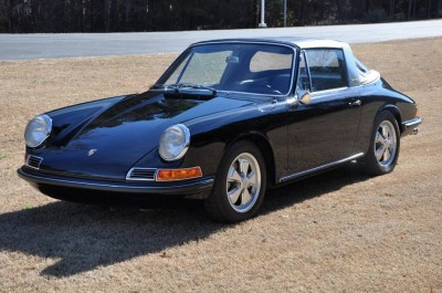Black 1967 Porsche 911S Soft Window TARGA for sale in Raleigh NC 3