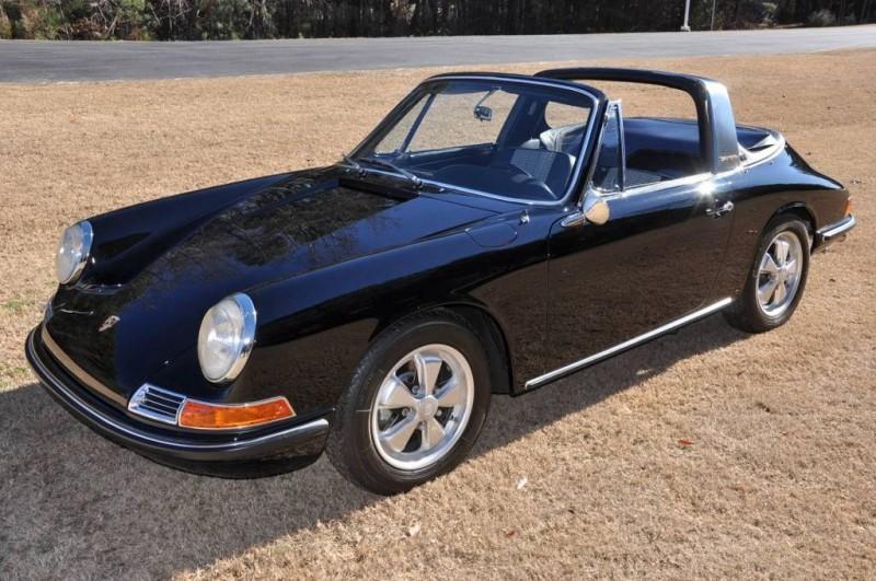 Black 1967 Porsche 911S Soft Window TARGA for sale in Raleigh NC 39