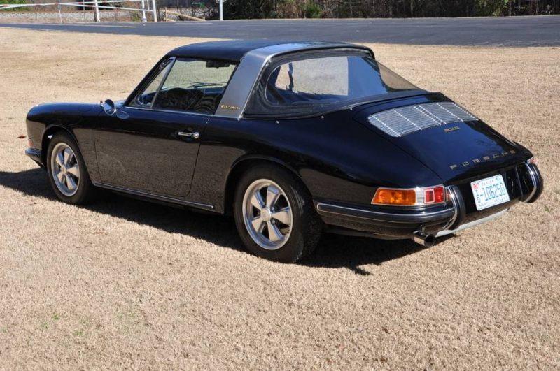 Black 1967 Porsche 911S Soft Window TARGA for sale in Raleigh NC 4