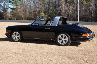 Black 1967 Porsche 911S Soft Window TARGA for sale in Raleigh NC 41