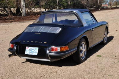 Black 1967 Porsche 911S Soft Window TARGA for sale in Raleigh NC 6