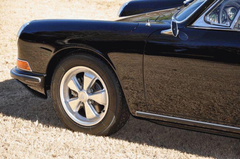 CarRevsDaily - Black 67 Porsche 911S Soft Targa GIF