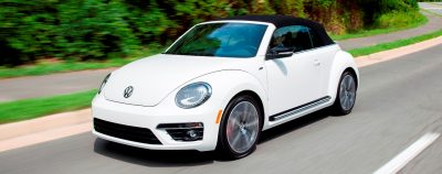 2014 VW Beetle Turbo, TDI and Cabrio   Buyers Guide and Photo Galleries  CarRevsDaily.com 2014 Beetle R line Cab 1 400x158 photo