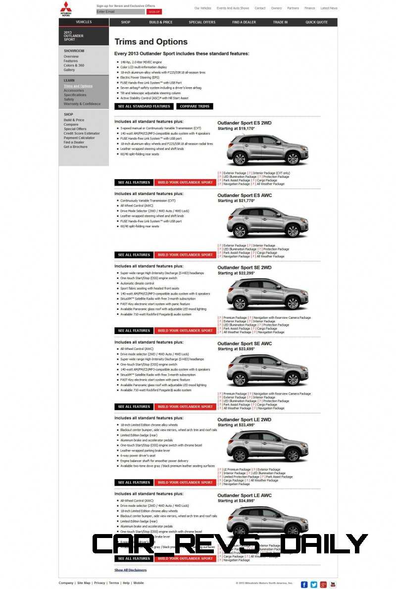 CarRevsDaily.com 2014 Mitsubishi Outlander Sport Updates and Photos 26