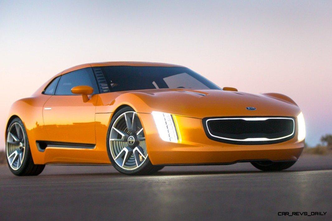 Carrevsdaily Com Kia Gt Stinger Concept Track Thrills Rwd Layout Hp Turbo Lightweight Aero Shell