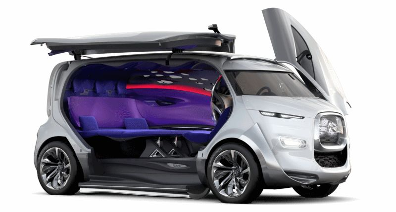 Concept Flashback - 2011 Citroen Tubik Doors GIF