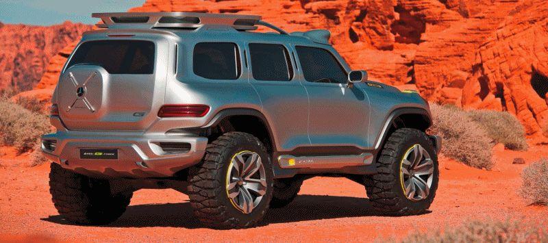 Concept Flashback - 2012 Mercedes-Benz ener-G-wagon GIF
