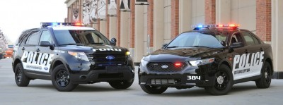 The New Ford Police Interceptor sedan and utility vehicles