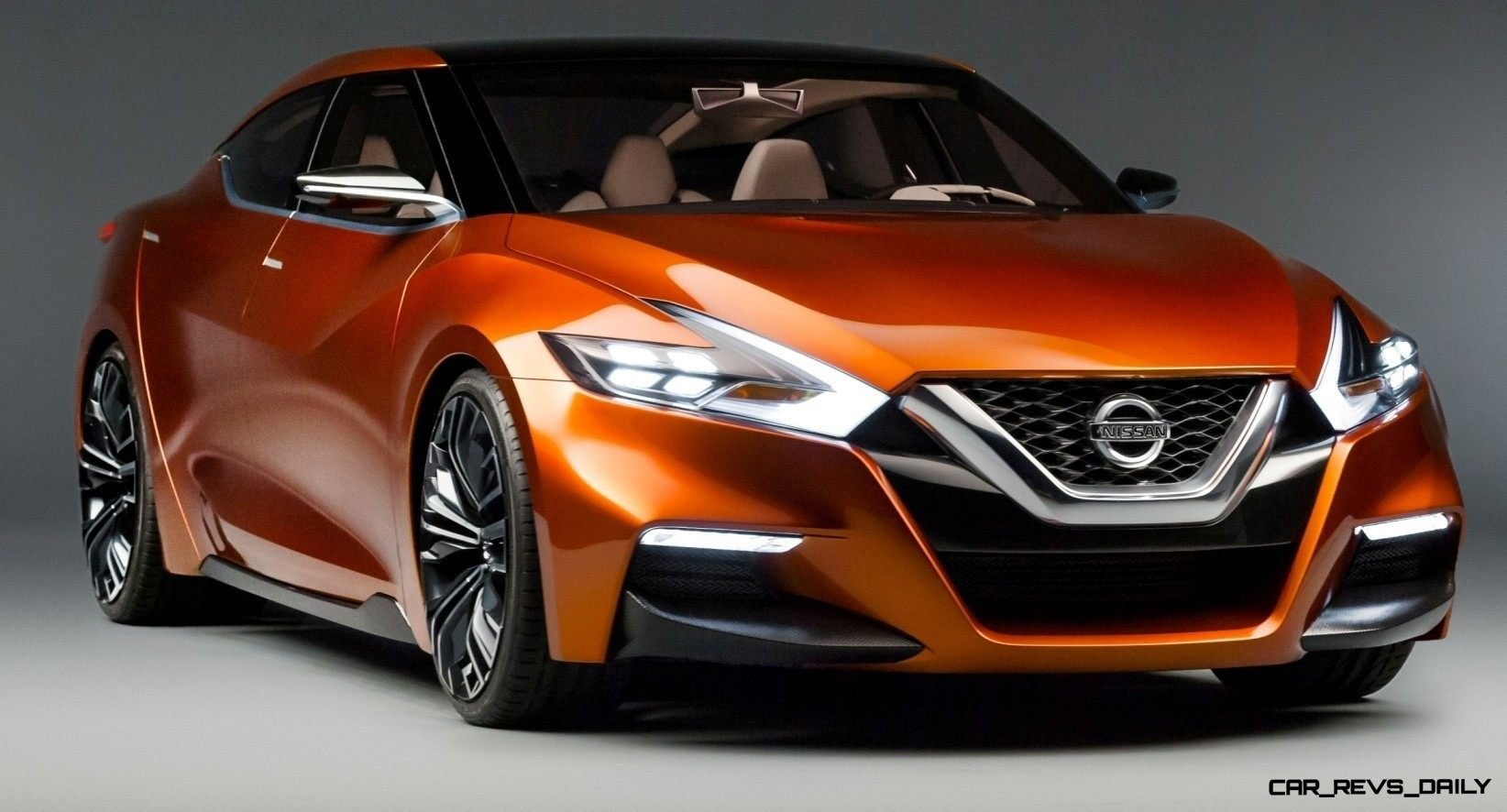 Updated 2014 Nissan Sports Sedan Concept Brings 35 In Lower Roof First Generation Cefiro Before I Forget It Seems The New Grille Face Has Been Officially Named V Motion Appears As Description And Also Swept Back Appearance