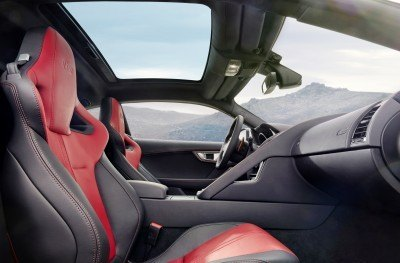 Jaguar Makes a WINNER!  2015 F-type Coupe INTERIOR12
