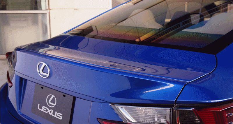 Lexus RC F GIF small LED aero spoiler GIF