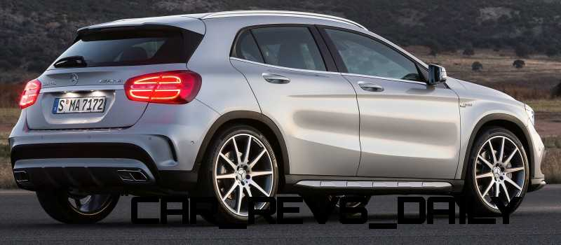 Production-Spec 2015 GLA45 AMG Looking Gorgeous Without Concept Stickers Production-Spec 2015 GLA45 AMG Looking Gorgeous Without Concept Stickers