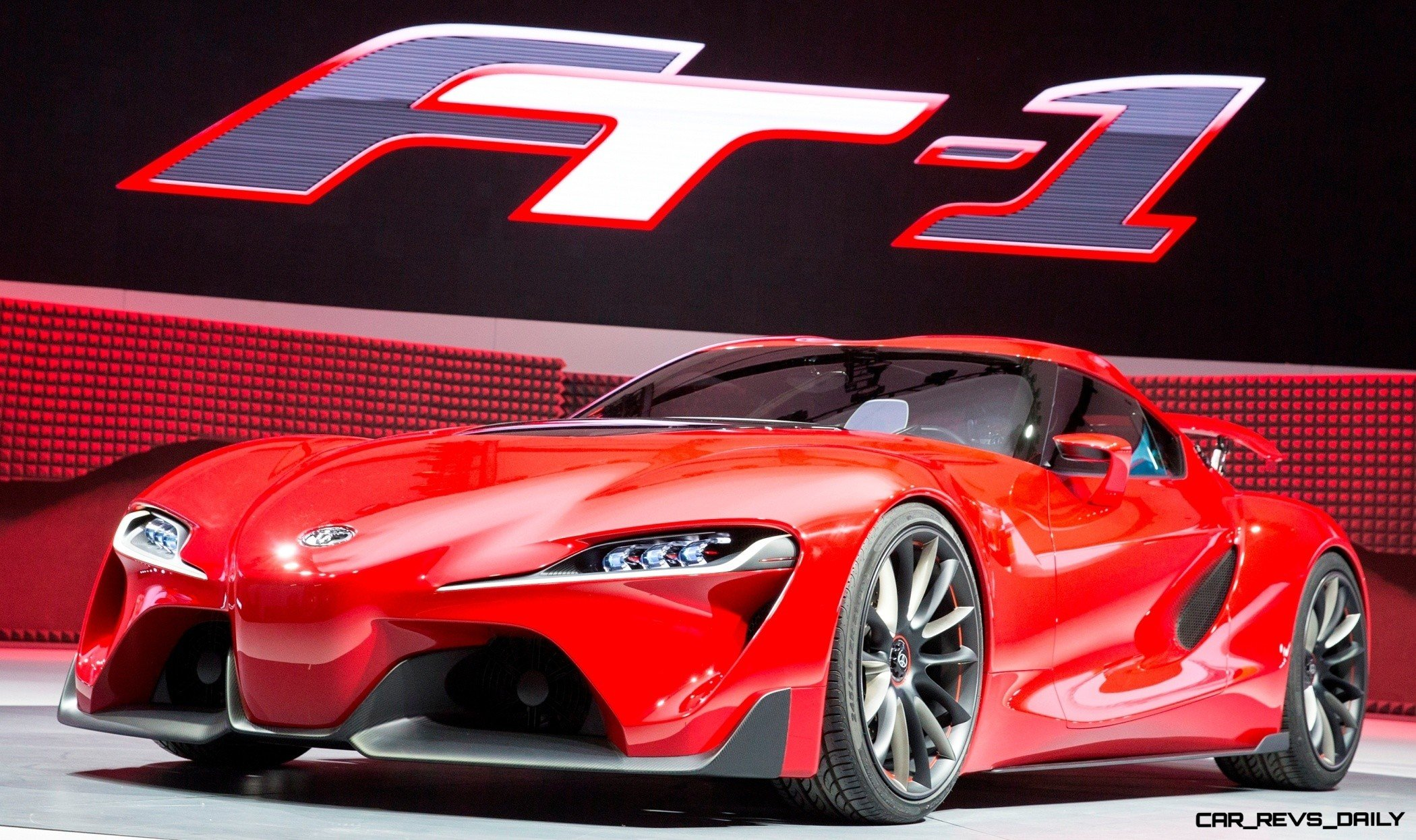 Toyota reveals the FT-1 sports car concept at the North American ...