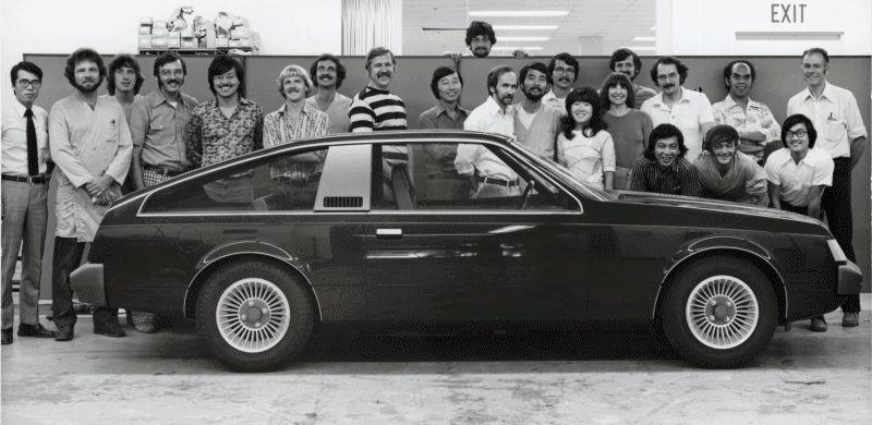 Toyota Pacific Design CALTY teams 1978 and 2014 GIF