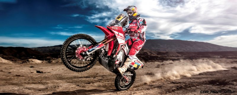 Helder Rodriguez  ( Honda HRC Team ) performs during the in 2014 Dakar Team Activations