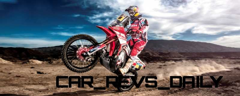 Helder Rodriguez ( Honda HRC Team ) performs during the in 2014 Dakar Team Activations. Spain on October 28th, 2013