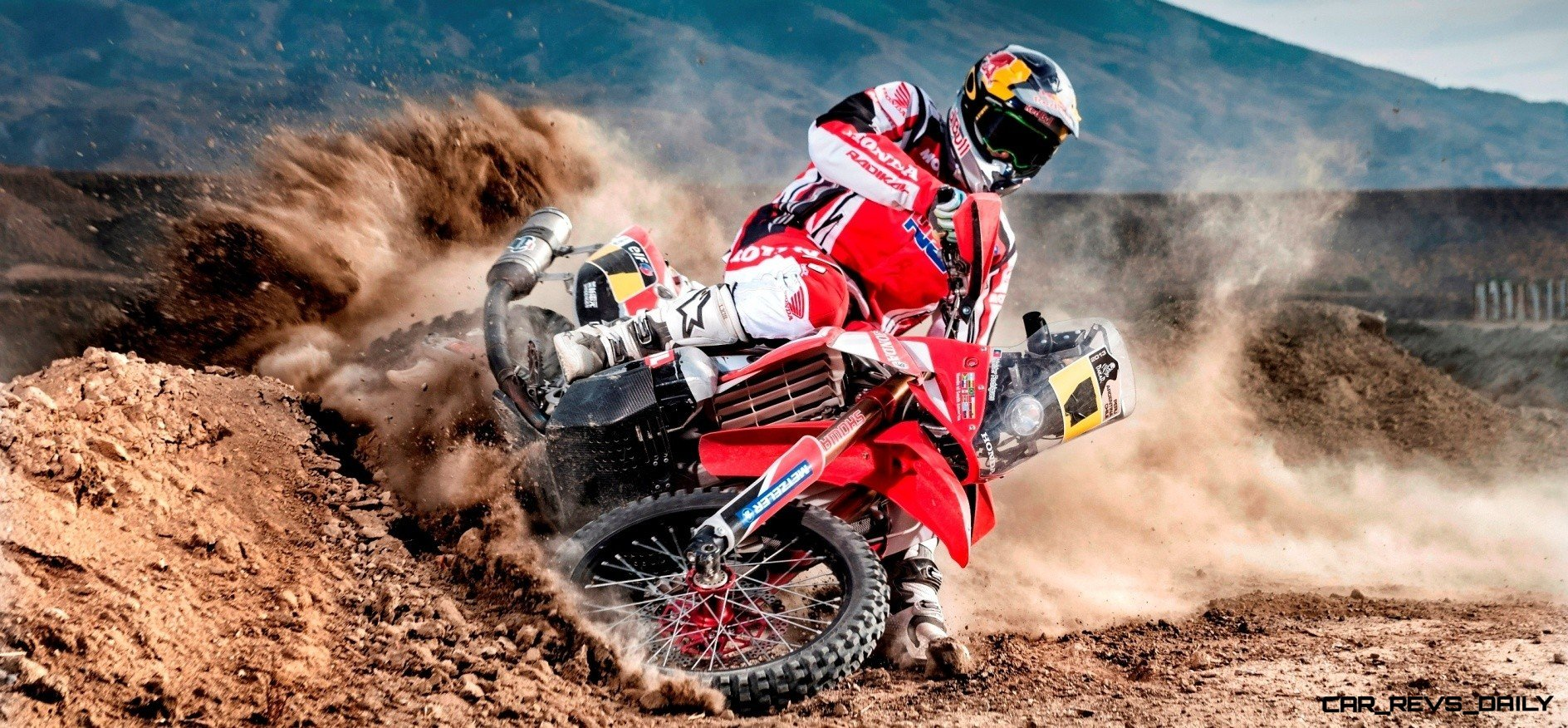 Sam Sunderland ( Honda HRC Team ) performs during the in 2014 Dakar Team Activations