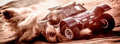 Carlos Sainz drives in the desert during the preparations of Dakar 2014 in Arfoud, Morocco, on October 9th, 2013
