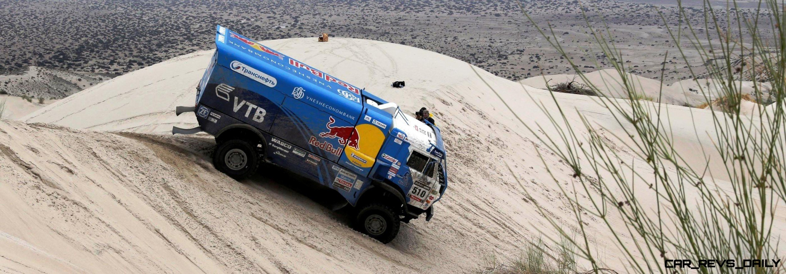 Russia's Andrey Karginov, co-pilots Igor Devyatin and Andrey Mokeev compete with their Kamaz truck during the 11th stage of the Dakar Rally 2013 from La Rioja to Fiambala January 16, 2013