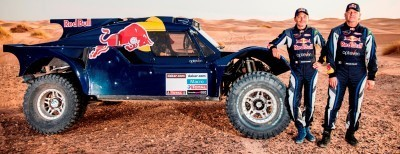 Gilles Pillot and Ronan Chabot during the preparations of Dakar 2014 in Arfoud, Morocco, on October 9th, 2013