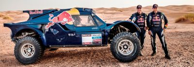 Carlos Sainz and Timo Gottschalk during the preparations of Dakar 2014 in Arfoud, Morocco, on October 9th, 2013