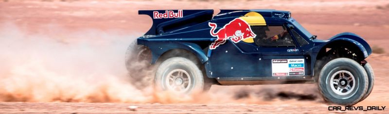 Ronan Chabot drives in the desert during the preparations of Dakar 2014 in Arfoud, Morocco, on October 10th, 2013