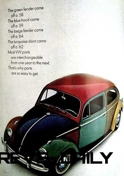 Visual Humor and Lavish Color Saved th e VW Beetle in America 17
