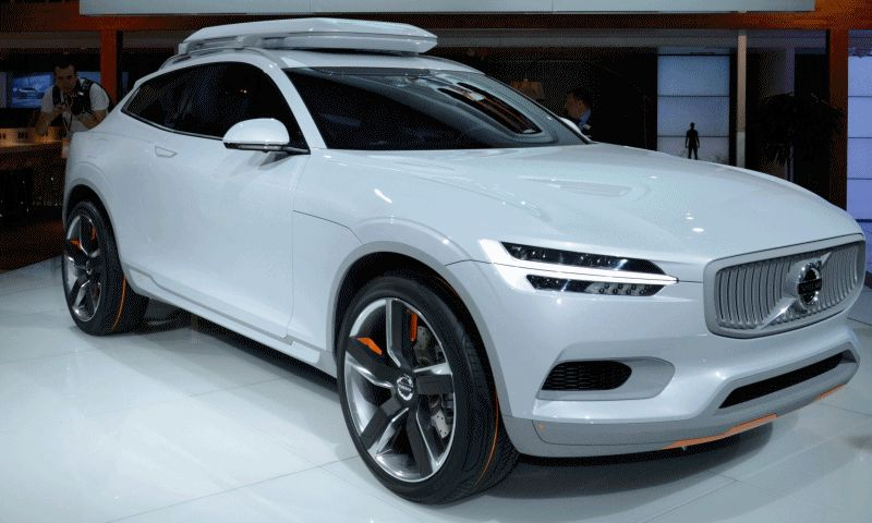 Volvo XC Coupe Concept Looking for Ski Trips GIF