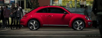 2014 VW Beetle Turbo, TDI and Cabrio   Buyers Guide and Photo Galleries  red beetle 2014 side 400x150 photo
