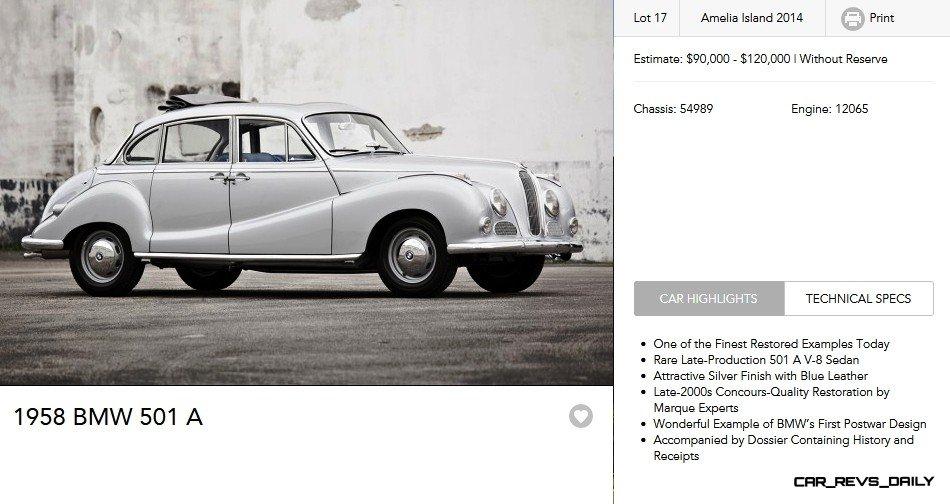 1958 BMW 501 A