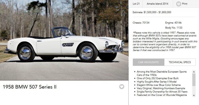 1958 BMW 507 Series II