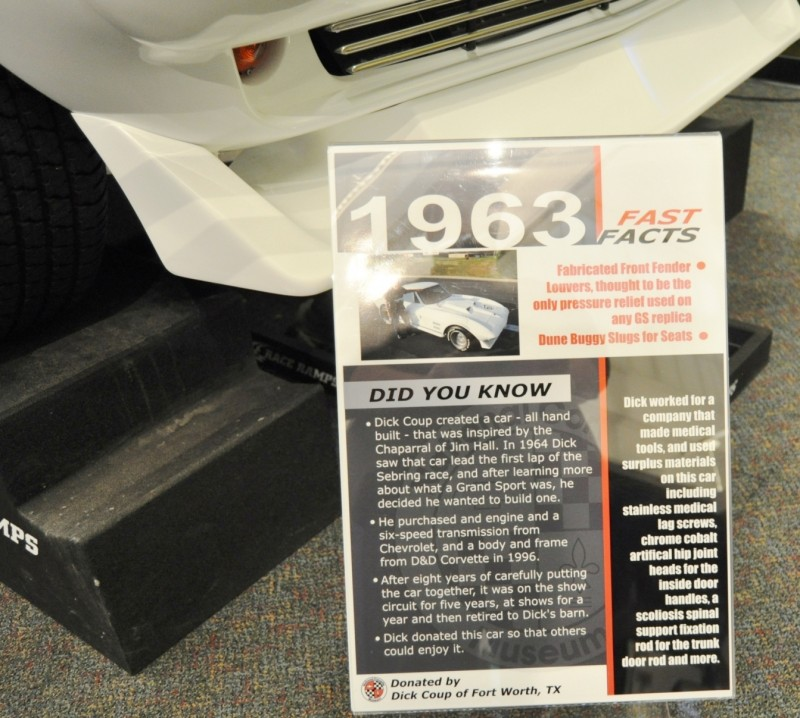 1963 Corvette GS Chaparral by Dick Coup at National Corvette Museum 11