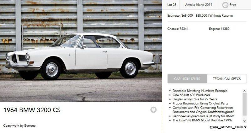 1964 BMW 3200CS