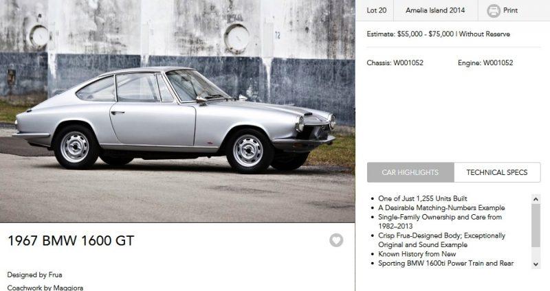 1967 BMW 1600GT