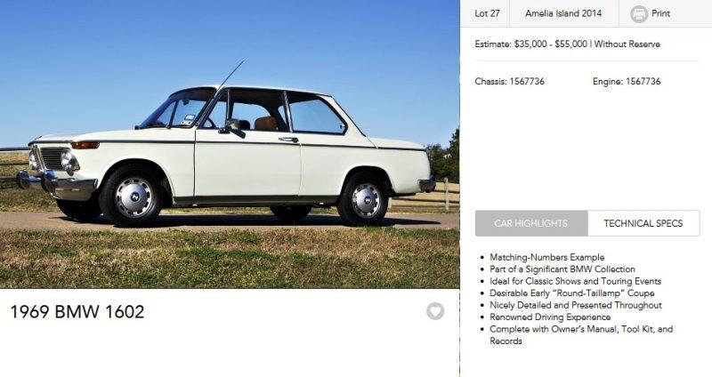 1969 BMW 1602