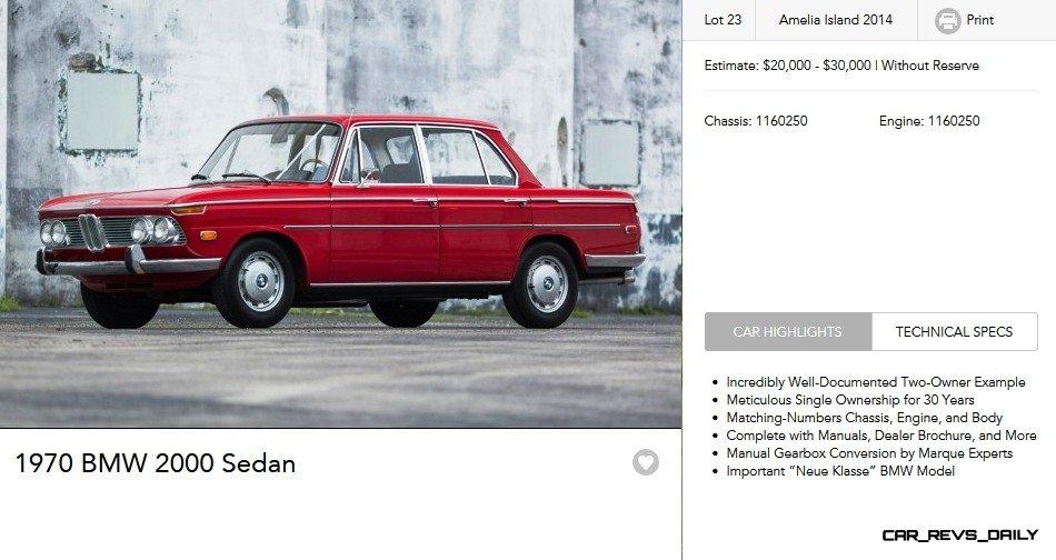 1970 BMW 2000 Sedan