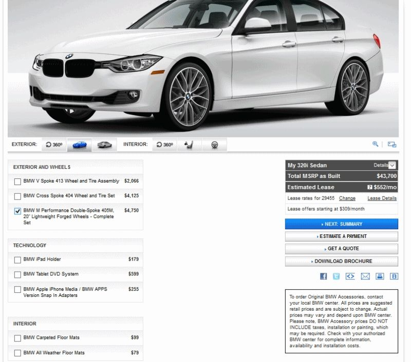 2014 320i Alpine White -- Wheel Options -- GIF